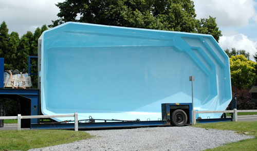 transport piscine coque