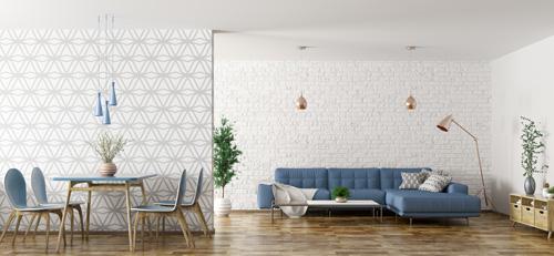 salon papier peint