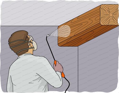 traitement charpente pulvérisation