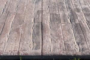beton imprime imitation bois