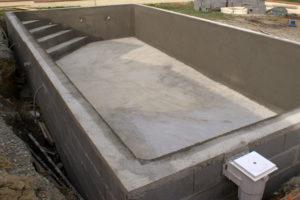 construction piscine beton