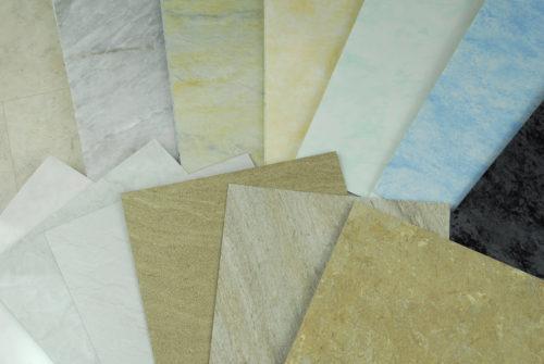 échantillons de pvc immitation marbre