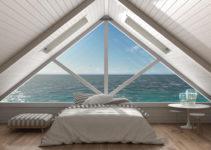 chambre sous combles avec vue panoramque