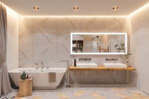 salle de bain spot lumineux