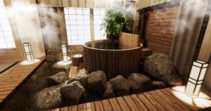 baignoire japonaise bois