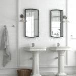 Double lavabo colonne rétro