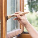 peinture fenêtre bois