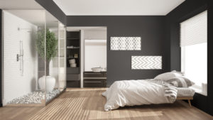 chambre et sdb minimalistes