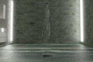douche pierre naturelle