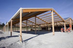 hangar en bois