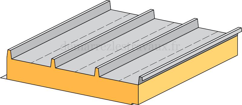 Prix et pose d'un panneau en sandwich pour toiture - Demarrez les travaux!